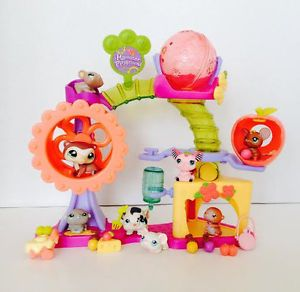 Littlest Pet Shop LPS RARE Hamster Playground Set Pets Food Accessory Lot
