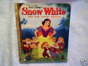 Snow White Seven Dwarfs Little Golden Walt Disney C Printing Dopey Doc Grumpy