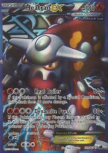 Heatran EX Full Art Plasma Freeze 109 116 Pokemon Card RARE Mint PRESALE