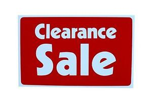 CLEARANCE Sale Sign Business Retail Store Point Massege Card