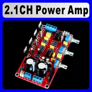 Assembled 2 1 Channels LM1875 NE5532 Audio Power Amplifier Board 25WX2 50W Sub