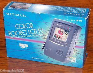 Vintage Optimus 2 2'' Auto Tune Color Pocket LCD TV Portable Television New Box