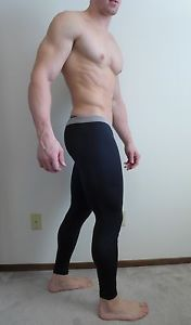 Mens Thermal Poly Running Warm Up Athletic Muscle Gym Leg Training Pants Hot