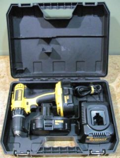 Dewalt DC 720kA Drill with Charger 2 Batteries Power Tools Cordless Drills