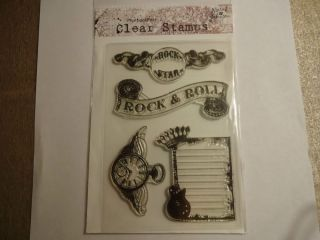 Hampton Art Rock Star Clear Stamps by Marah Johnson