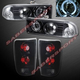 1998 2004 Chevy Blazer Black Halo Projector Headlights altezza Tail Lights