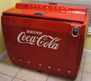 1940 50's Vintage Refrigerated Coke Coca Cola Cooler Machine Refrigerator Nice