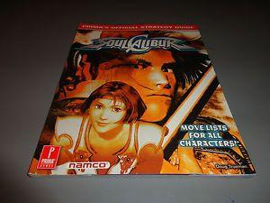 Soul Calibur Strategy Guide Prima Sega Dreamcast Nice