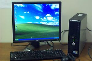 Complete Dell Optiplex GX620 Desktop Dual Core Computer and 17 LCD Monitor