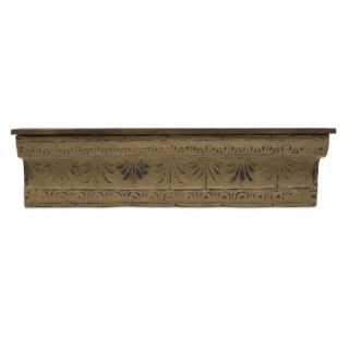"Shabby Country Chic Embossed Wood Wall Shelf 50"" Scroll Ledge Vintage Style New"