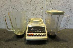 Sunbeam Oster Blender Glass Plastic Pitcher Vintage Classic Small Appliance