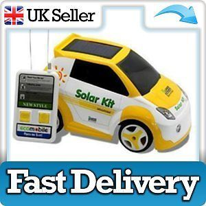 New Remote Control Car Solar Powered Eco Sun USB Charged