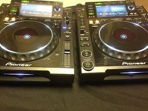 Set of Two Pioneer CDJ 2000 Multi Player DJ Turntables