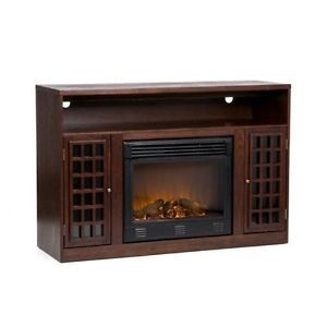Electric Fireplace Entertainment Center TV Display Television Set Storage Stand
