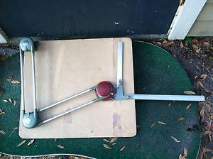 """Drafting Machine Vintage Older 16"""" Universal Desk Topper 15D10 w 2 Rulers"""