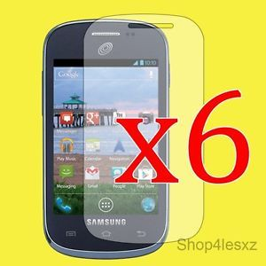 6 Pack for Samsung Galaxy Centura S738C Straight Talk Clear Screen Protector