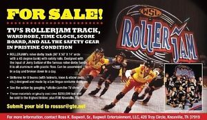 TV's Rollerjam Track Wardrobe Time Clock Score Board and All The Safety Gear