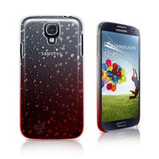 Red 3D Rain Drop Design Hard Case Cover for Samsung Galaxy S4 IV I9500 Film