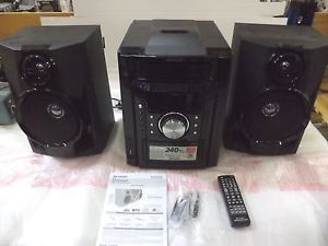 Sharp CD DH950 Home CD Shelf Stereo System USB Aux Input Dock for iPod iPhone