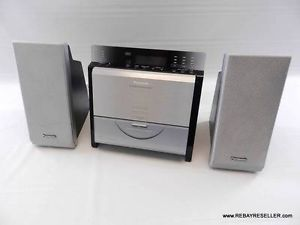 Panasonic SA EN7 Micro Stereo Mini Shelf System Slim Desktop CD Radio Excellent