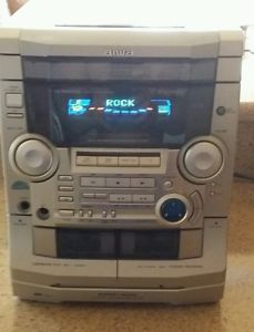 Aiwa Mini Shelf Stereo System 3 CD Changer