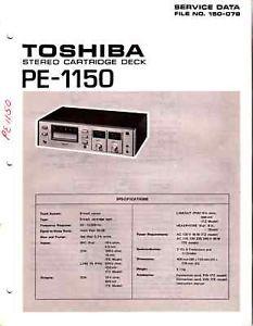 Toshiba PE 1150 Service Manual Original Free USA SHIP