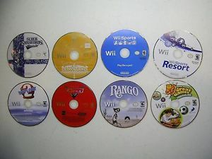 Lot of 8 Wii Games Super Smash Bros Brawl Wii Sports Resort Wipeout 2 Cars
