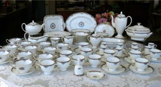 Huge 119 PC Wedgwood Osborne China Dinnerware Set Service for 12 Many Servers