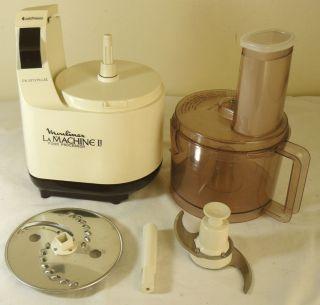 Moulinex La Machine II Food Processor LM2 375 Watt USA Kitchen Appliance Works