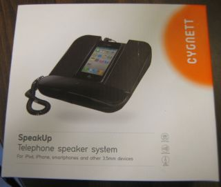 Cygnett Speakup Desktop Telephone Speaker System iPod iPhone Smartphones NIB