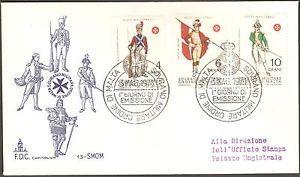 1971 Soldier Military Uniform Stamps Sovrano Militare Ordine Di Malta FDC Cover