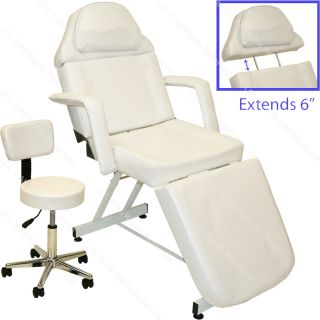 Professional Stationary Facial Massage Table Bed Chair Beauty Salon Equipment