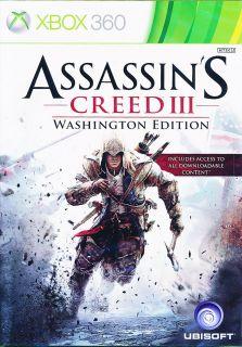 Assassins Creed 3 Xbox 360 New