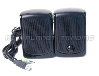 Genuine ASI Audio Tech Black USB Wired Powered 2 0 CH Speakers EMCPU1
