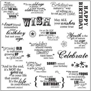 Fiskars Scrapbook Arts Crafts Clear Stamps Sayings Make A Wish Quotes
