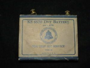 Antique American Telephone Telegraph Co KS 6570 Dry Battery