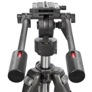 New Video Camera Film Tripod w Pro Fluid Drag Pan Head