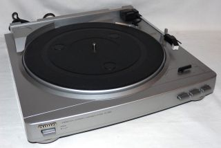 Aiwa PX E860 Stereo Turntable with Built in Phono Stage Preamp Nice