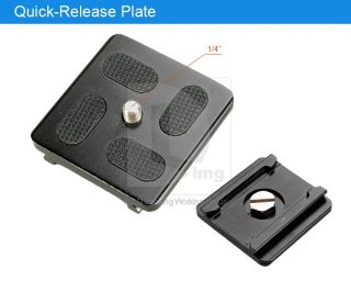 Metal DSLR Camera Quick Release Plate for Tripod Monopod Stand Ball Head