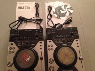 2 Pioneer CDJ 400 Digital Turntables Compact Disc Players Controllers USB