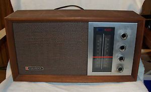 Vintage Panasonic Solid State Color Band Tuning Radio Model re 7257 Working