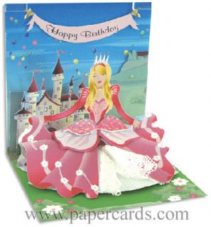 Princess Pop Up Birthday Card Greeting Card by Up with Paper