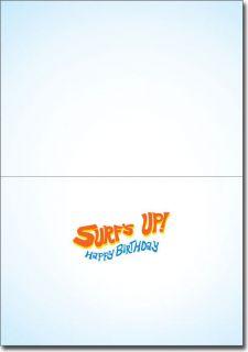 Surfer Frog Funny Birthday Card Greeting Card by Avanti Press