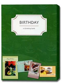 All Things Sweet Box of 12 Assorted Birthday Cards with Envelopes