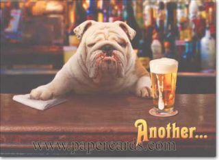 Dog Bartender Stand Out Pop Up Birthday Card Greeting Card by Avanti Press