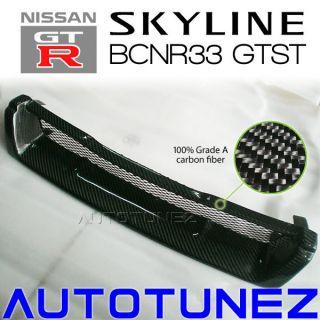 Carbon Fiber Front Bumper Mesh Grill Grille Nissan Skyline r33 GTST GTS BCNR33