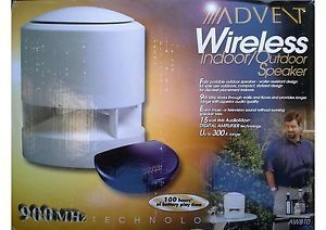 Advent Wireless Indoor Outdoor Speakers AW 810 Main Stereo Speakers 044102158108