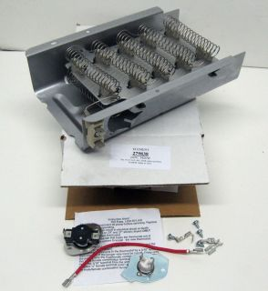 Electric Dryer Heating Element and Thermostat Dryers Whirlpool Kenmore Roper