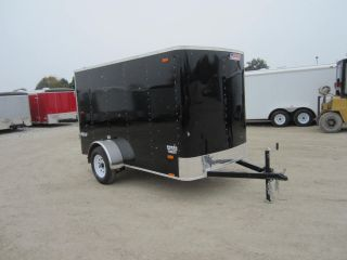 8473 Pace Enclosed Cargo Trailer 2014 Outback Flat Top 5x10' Single Rear Door