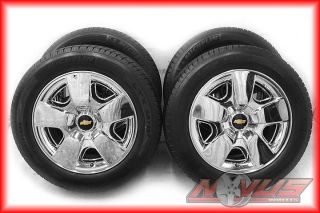 "20"" Chevy Silverado LTZ Tahoe Chrome Factory Wheels Michelin Tires Yukon"